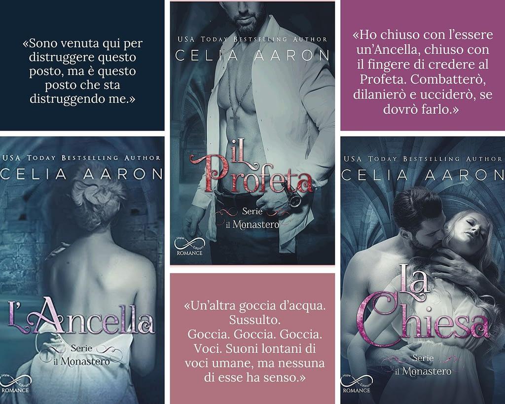 5 libri darkromance da leggere: trilogia Il Monastero di Celia Aaron ( L'Ancella, Il Profeta, La Chiesa) edita da Hope Edizioni