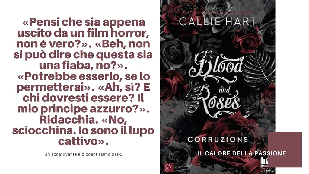 5 libri darkromance da leggere:  Blood and roses di Callie Hart edito da Always Publishing